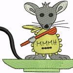 A02 Haft Myszka na talerzu