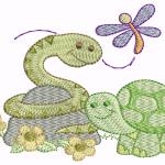 A12 Haft Żółw z Wężem