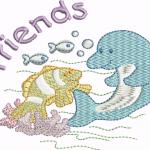 A23 Haft Delfin Frends
