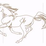 A44 Haft Biegnacy Koń
