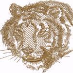 A45 Haft Głowa Tygrysa