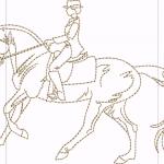 B29 Haft Jezdziec Na Koniu