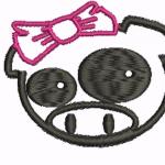 B30 haft świnka dziewczyna inna kokarda