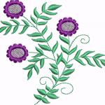 D14 Haft Kwiat Fioletowy