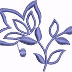 D15 Haft Zarys Kwiatu