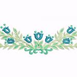 D18 Haft Kwiaty Niezapominajki