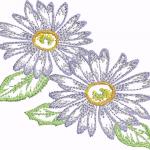 D24 Haft Kwiat Gerber
