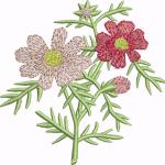 D26 Haft Kwiaty Kolorowe