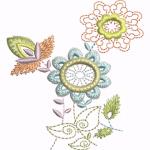 D27 Haft Kwiaty Michalkowe