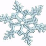 D32 Haft Sniegowa gwazdka
