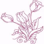 D33 Haft Obry Tulipanow