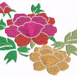 D35 Haft Kolorowe Roze