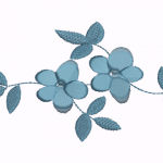 D38 Haft Lace Flower