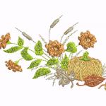 D56 Haft Dynia z Kwiatkami